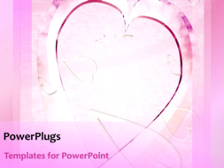PowerPoint Template - Hearts background